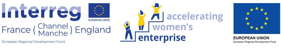 Accelerating Women's Enterprise logo set