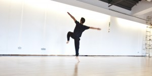Dancer Fumaiki Tanaka in Studio 6 (Space). Photo © Alice Carfrae