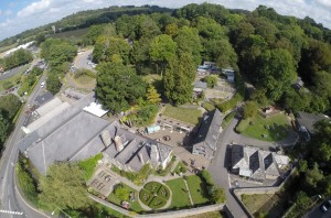 The Shops at Dartington from the air