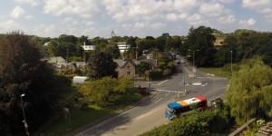 Dartington Parish from the air