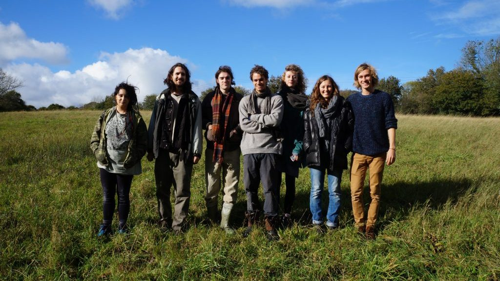 Members of the Living Projects in their chosen site, Pond Field