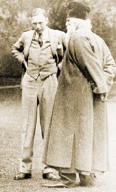 Leonard Elmhirst with friend Rabindranath Tagore