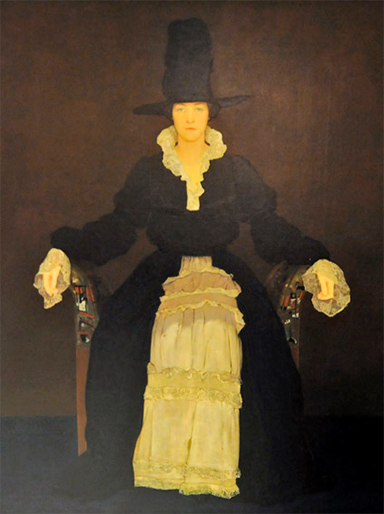 Dorothy Elmhirst in costume, painted by Walter Dean Goldbeck