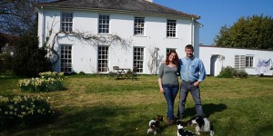 Jon and Lynne Perkin outside Old Parsonage Farm