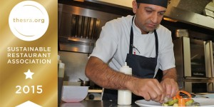 Head Chef Anuj Thakur in the White Hart kitchens