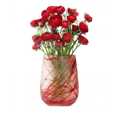 Red Silk Vase