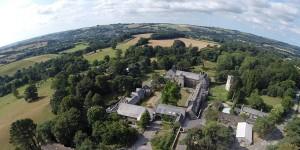 Aerial view of Dartington Hall