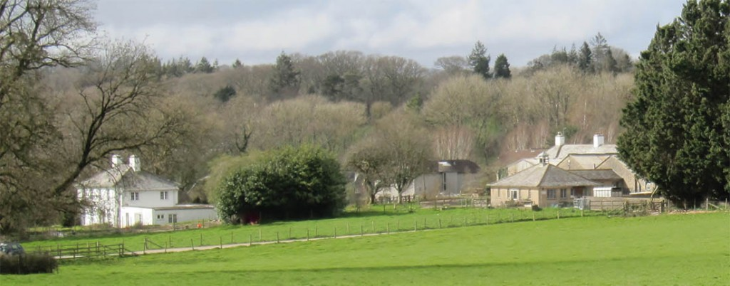 Wide view of Old Parsonage farm
