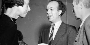 L-R, Dorothy Elmhirst, Kurt Jooss, Rudolf Laban, c1939. Photo Fritz Henle for Dartington Archive