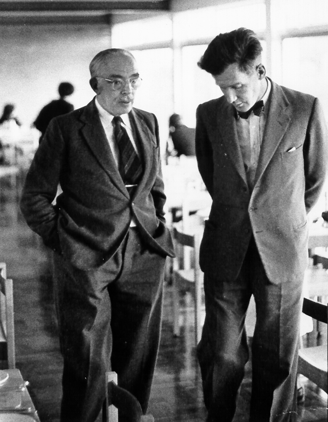 Tom Griffiths (right) with Leonard K Elmhirst, October 1963