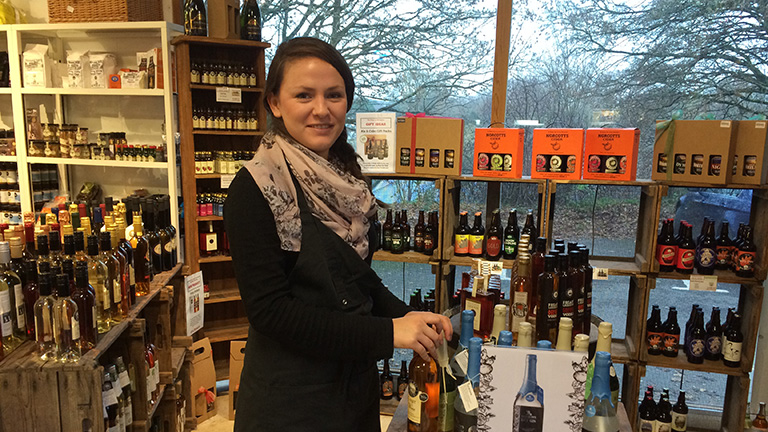 Work Experience student Alexandra in The Food Shop