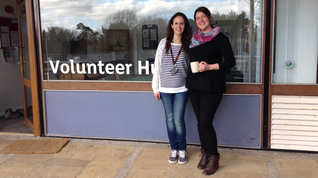Volunteer Manager Sonja Hughes, right, with Alessia