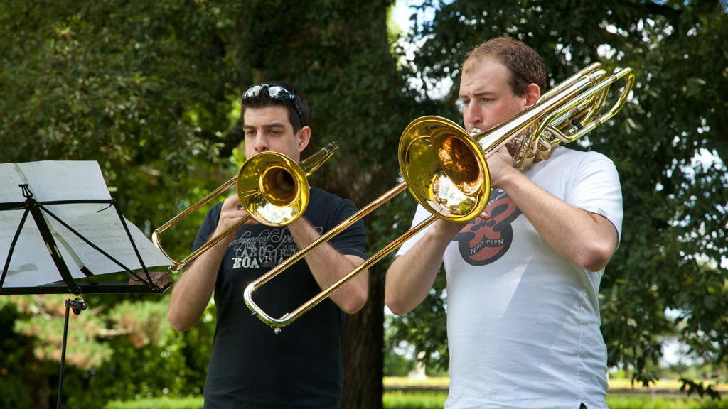 Students of the trumpet at the Summer School of Music (c) Alice Carfrae