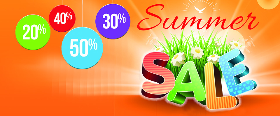 Summer Sale at the shops