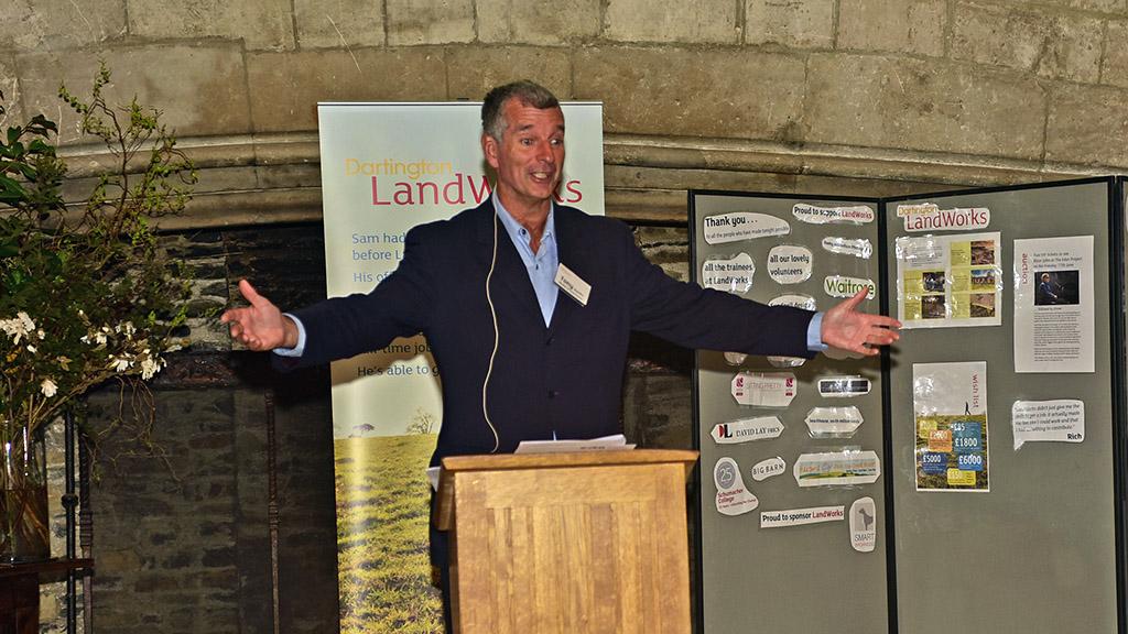 Tony Hawks helps raises £14K for Dartington LandWorks project
