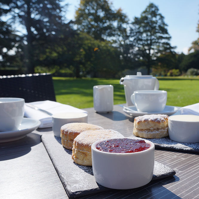 Cream teas on the White Hart lawn