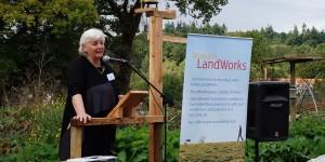 Director of the Prison Reform Trust, Juliet Lyon CBE, addresses LandWorks supporters