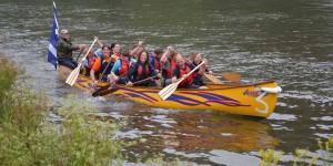 The 'Dartington Dartingtoneers' at the Totnes Canoe Festival