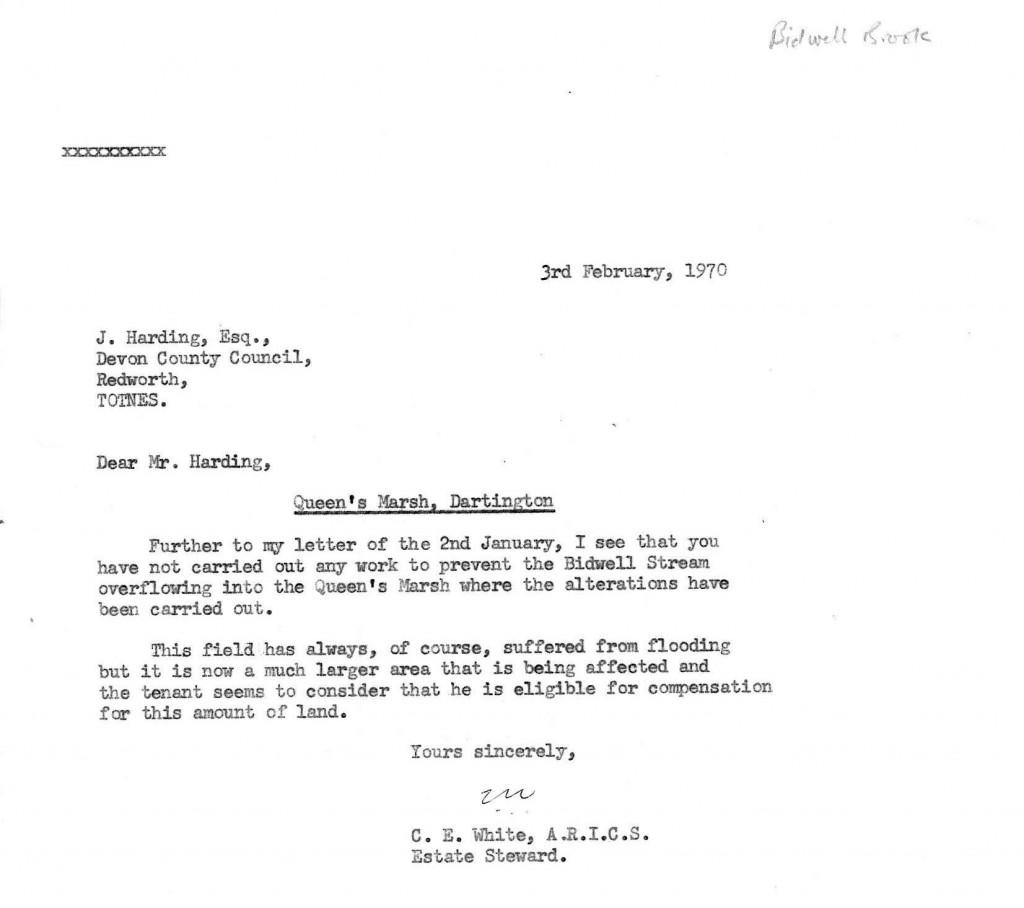 Overflooding concerns, 1970