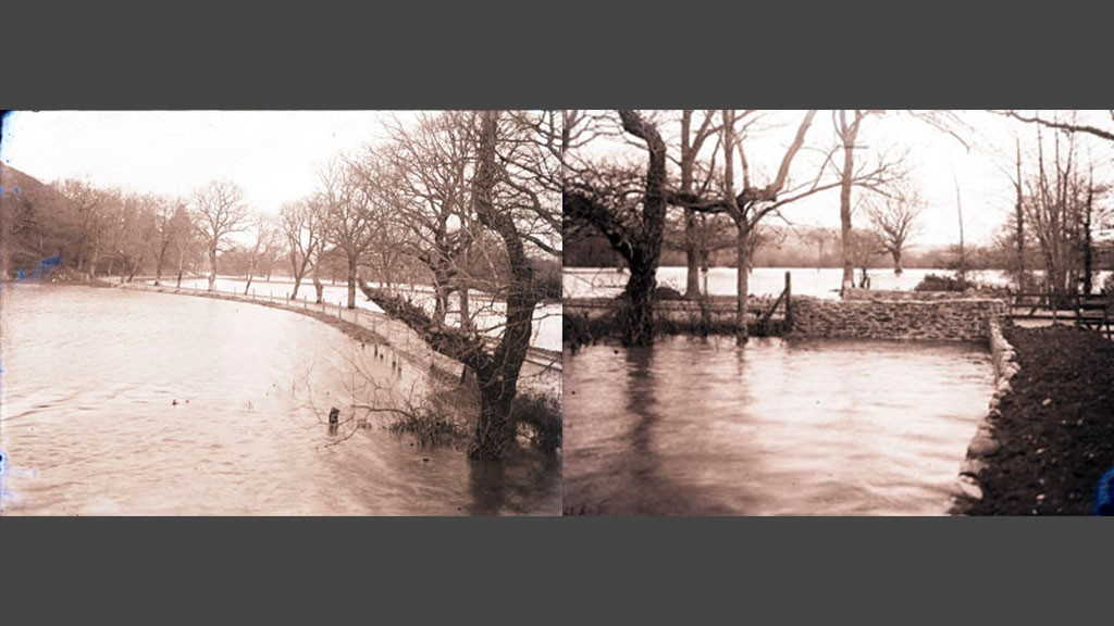 Queen's Marsh in flood, c.1930