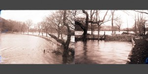 c1930 Flooded fields on the Estate at the lower drive near the Lodge