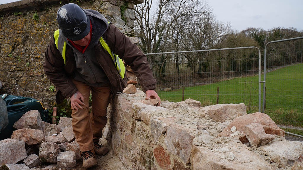 'Phase 1' initial restoration work on the Deer Park Wall begins