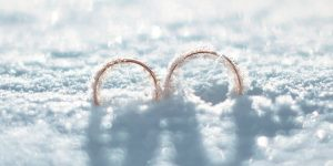 snow at the Hall with rings