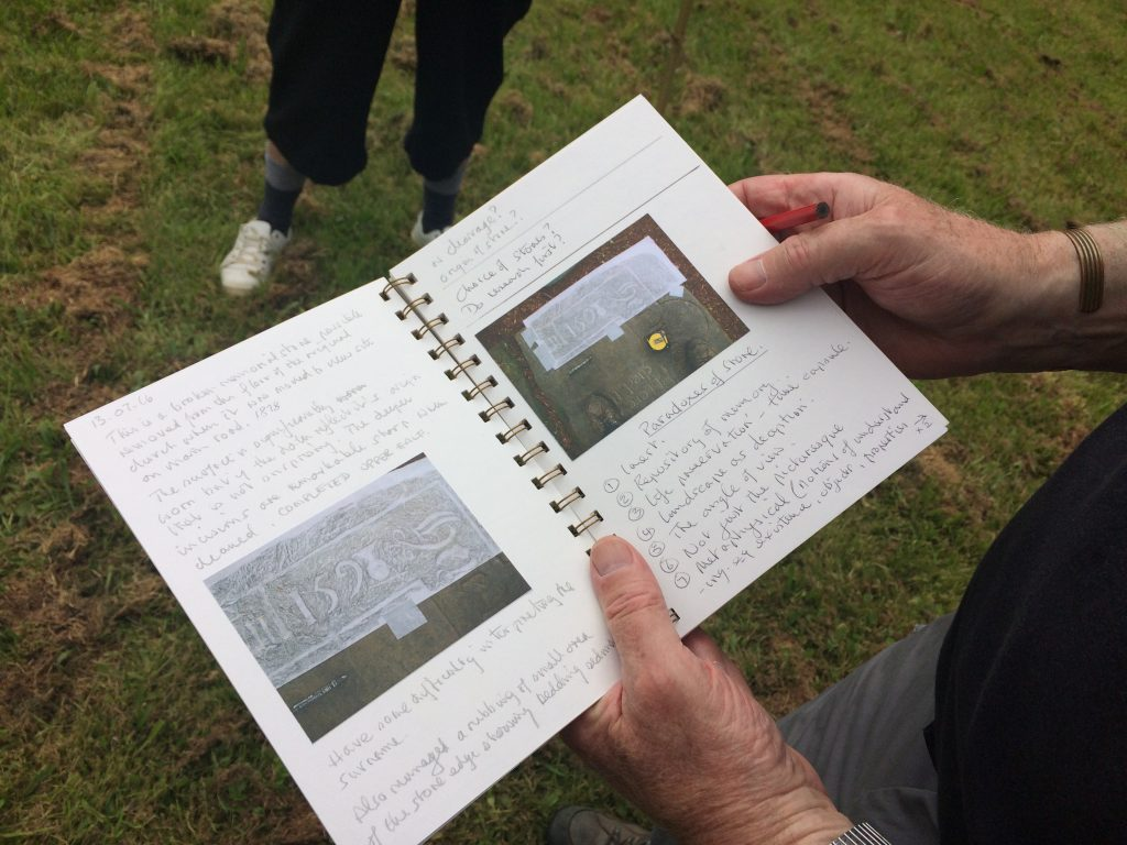 Martin's Fieldwork - observations and grave rubbings