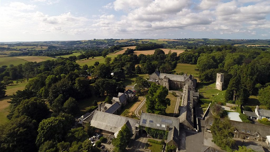 Aerial of Dartington Hall