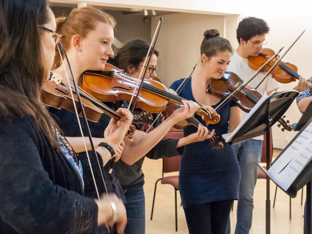 Baroque Orchestra Violins