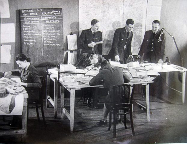 Bill Hunter in the RAF's Central Information Unit office