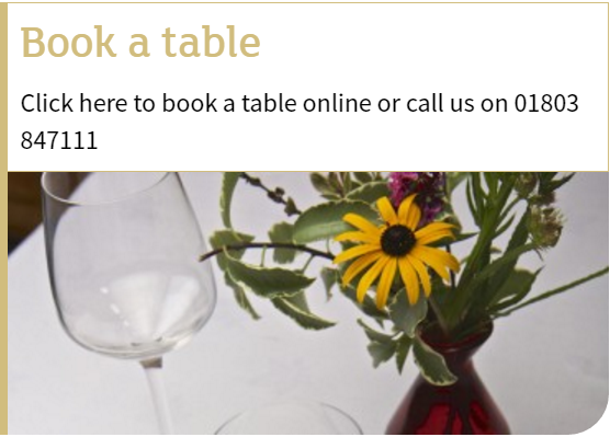 book a table button