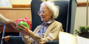 Marianne De Trey on her 100th birthday.