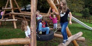 Children get to grips with the new play facility
