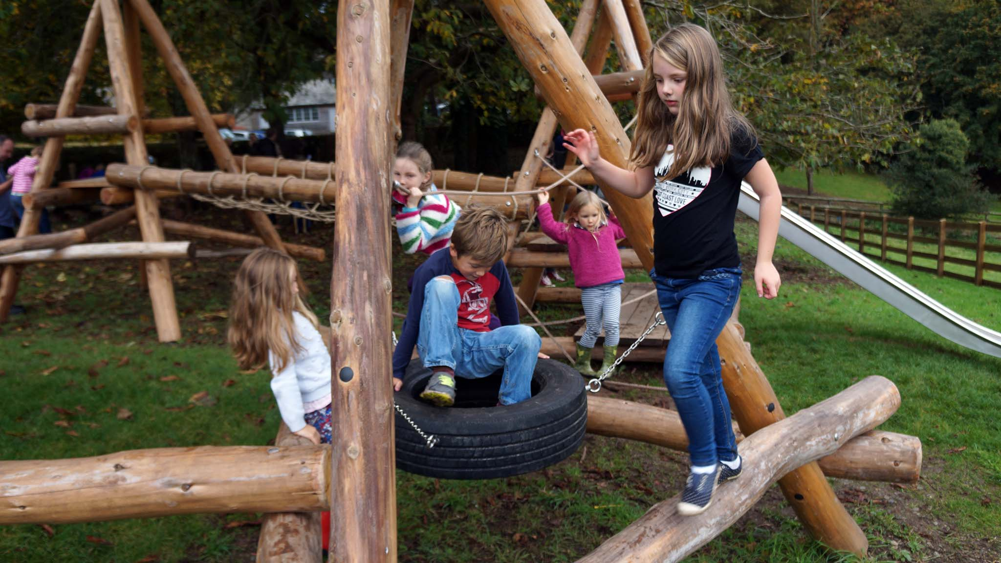 Camp Dartington visitors can enjoy a childrens play facility on the estate