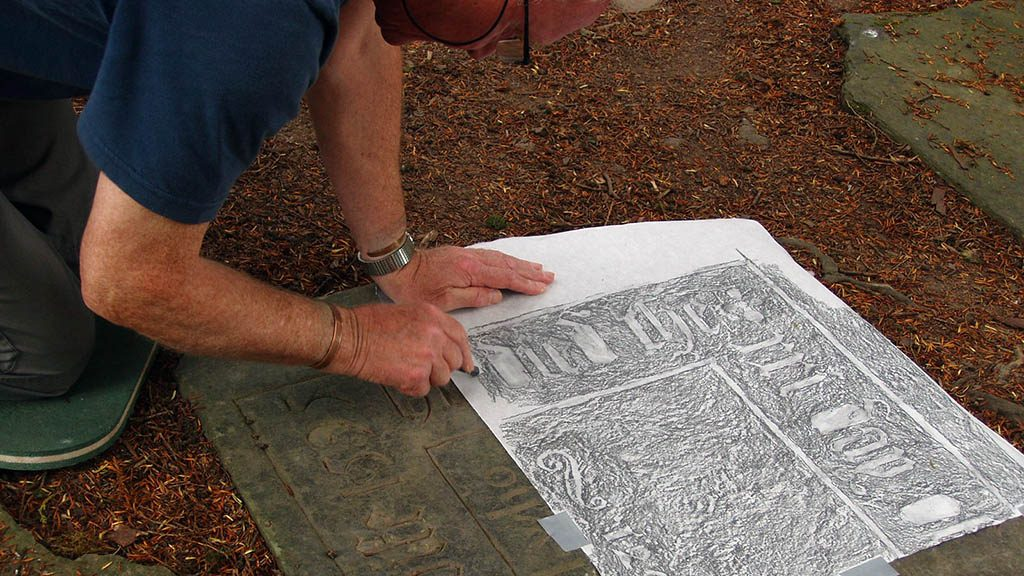 Volunteer blog: How can stone rubbing tell us about the past?