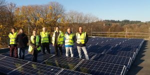 Trust, TRESOC and Beco staff by Lescaze solar array