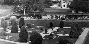 Dartington Hall's Tiltyard as Dutch Garden, date unknown