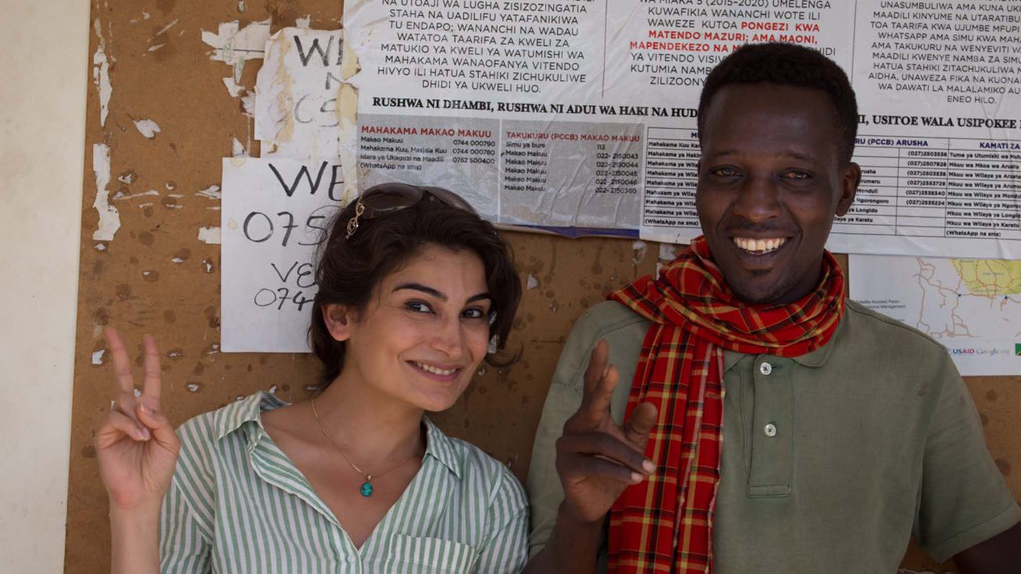 Mona Nasseri (left) with a colleague from the Jali Ardhi project