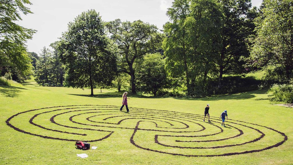 Visitors take a short journey into the 'ancient, mysterious spiral of the Labyrinth'