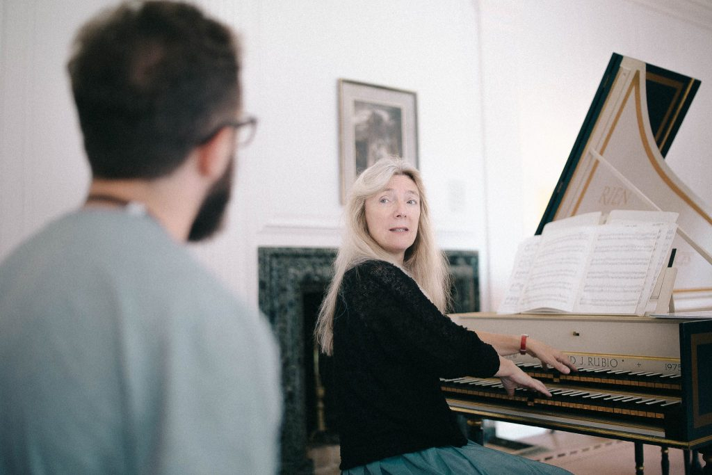 Jane Chapman teaching harpsichord - Summer School 2017