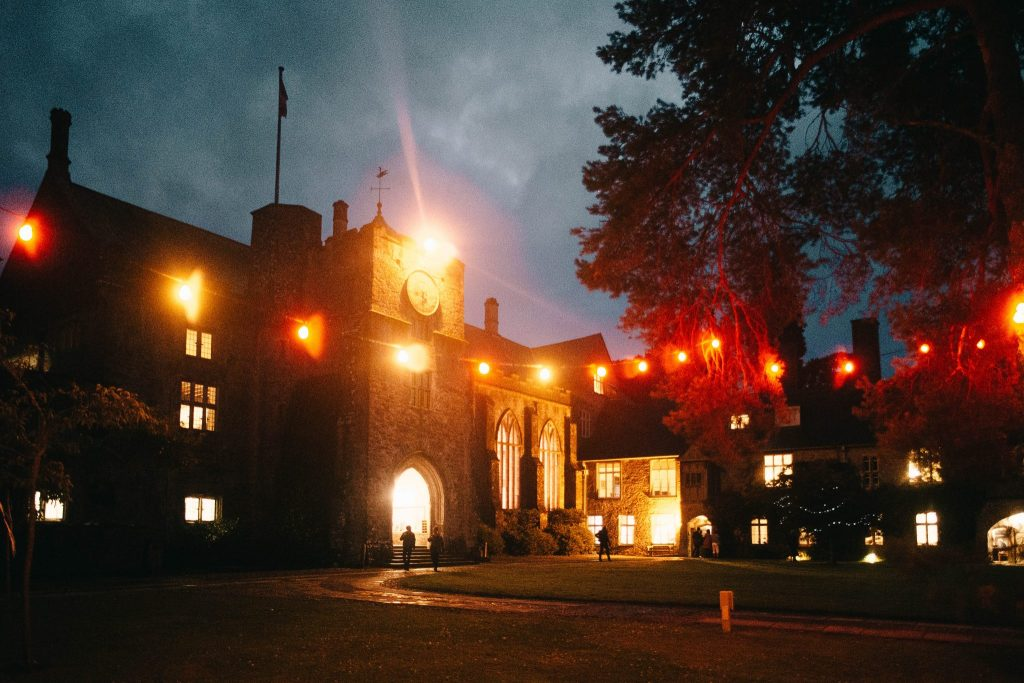 The Great Hall at night