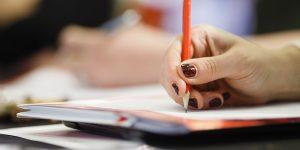 careers hand pencil
