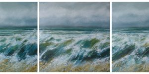 wild sea triptych by Sara Gilbert