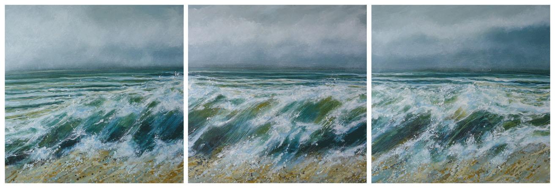 wild sea triptych by Sara Gilbert