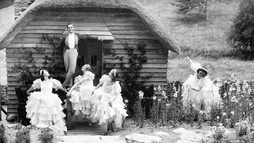 Kurt Jooss outside the Children's Playhouse. Photo: Dartington Archive