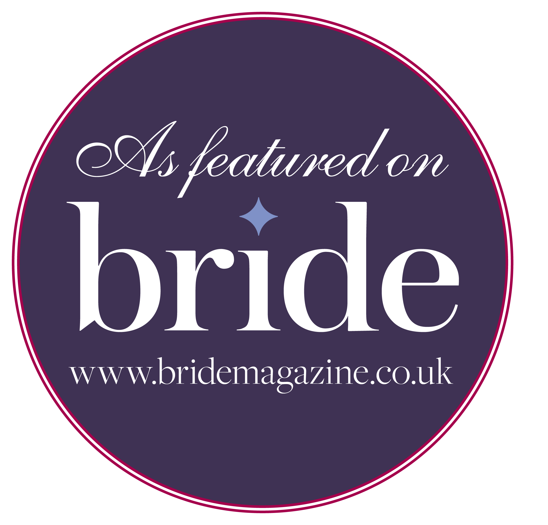 as featured in bride magazine