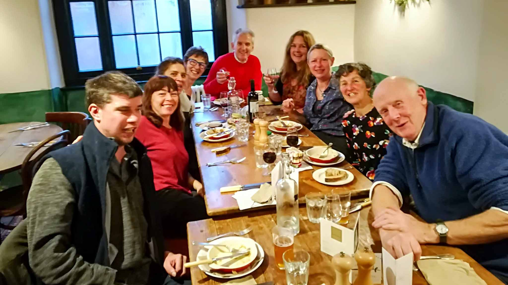 Walled Garden team Christmas outing