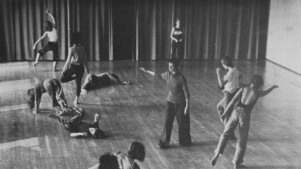 Release dance class at Dartington. Photo: Brian Haslem. Courtesy of Theatre Paper