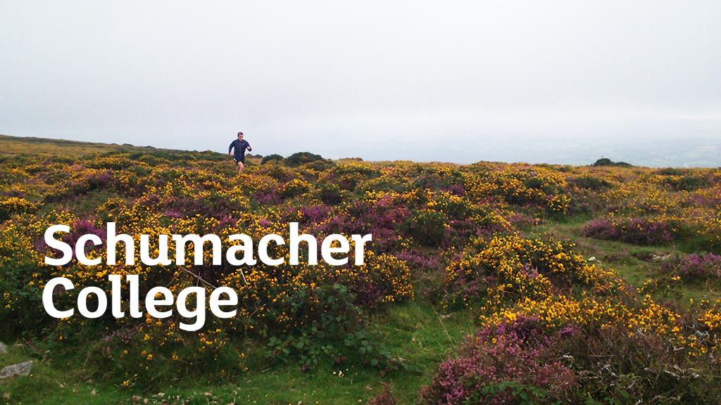 student running across the moors
